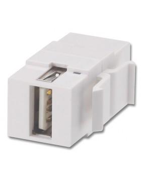 Frutto USB Tipo A/B Femmina/Femmina per prese a muro AV