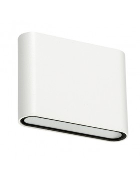 Lampada da parete a luce bianca calda 3000K 115x30x90 mm 6 W Orizzontale Bianca