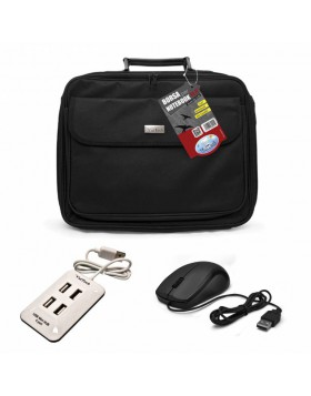 KIT BORSA CUSTODIA PER NOTEBOOK DA 15,6'' HUB ESTERNO USB 4 PORTE MOUSE VULTECH