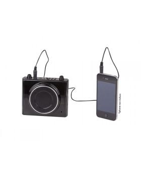 Amplificatore vocale Trevi Nero Micro SD Funzione Karaoke AUX-IN USB LED Voce