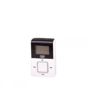 MINI LETTORE MP3 SCHEDA MEMORIA MICRO SD 2GB RADIO FM CON DISPLAY TREVI BIANCO