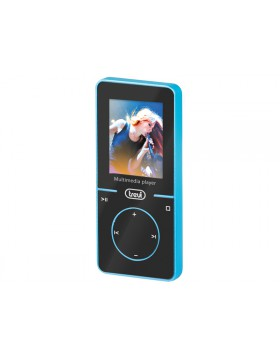 LETTORE MP3 VIDEO WMA WAV AUDIO RADIO SCHEDA MICRO SD 4GB DISPLAY TREVI BLU NEW