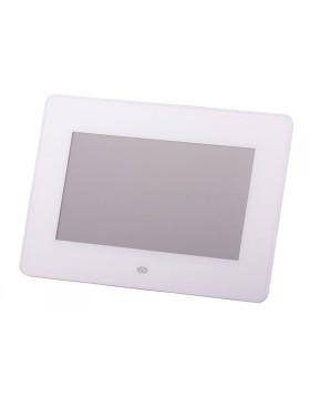 """CORNICE DIGITALE LED 7 """" POLLICI FOTO SCHEDA SD CARD PENDRIVE USB TREVI BIANCA"""