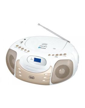 RADIO STEREO PORTATILE LETTORE CD MP3 INGRESSO USB AUX BLUETOOTH TREVI BIANCO