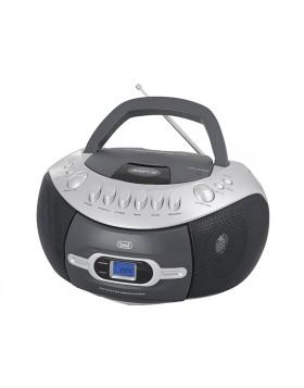 RADIO STEREO PORTATILE LETTORE MP3 CD USB MUSICA REGISTRATORE CASSETTE TREVI NEW