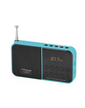 RADIO STEREO RADIOLINA PORTATILE CON LETTORE MP3 MICRO SD CASSA TREVI NEW VERDE
