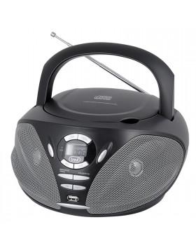 RADIO STEREO PORTATILE CD INGRESSO USB RADIO AM FM AUX NERO NUOVO TREVI CMP 550