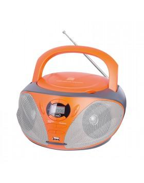 RADIO STEREO PORTATILE CD INGRESSO USB RADIO AM FM AUX ARANCIONE TREVI CMP 550