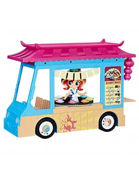 Camion Camioncino My Little Pony Sushi con Sunset Shimmer Hasbro