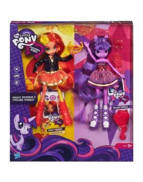 Twilight Sparkle e Sunset Shimmer Bambole My little Pony Hasbro Giochi
