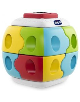 Chicco 2 in1 Q-Bricks colore Cubo in plastica componibile con effetto sorpresa