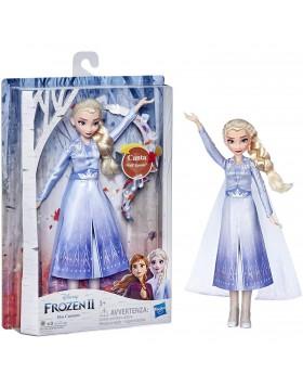 Hasbro Disney Frozen 2 Elsa Cantante Bambola Elettronica con Abito Azzurro