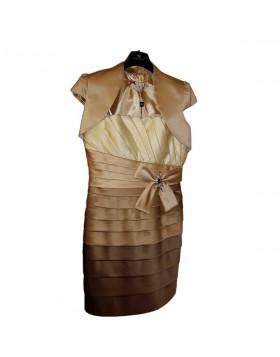 Vestito abito donna decolte' colore caffe' sonia pena taglia 44 da cerimonia