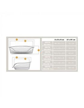 Cuccia SIESTA DELUXE 4 Ferplast per cani e gatti - Argento 61.5x45x21.5