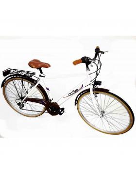 Bici bicicletta bike uomo cerchi freni cavalletto alluminio telaio acciaio 18 v