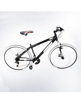 Bicicletta bici 26 uomo telaio acciaio nera forcella molleggiata ruote alluminio