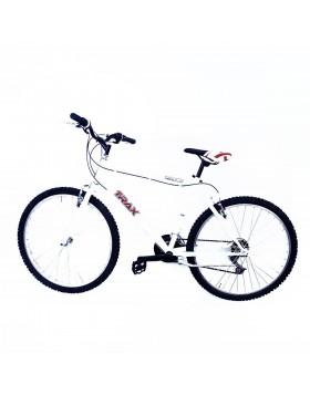 Bici bicicletta uomo bianca ruote 26 cambio e comandi shimano 18 v cavalletto alluminio