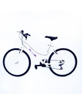 Bicicletta bici per donna telaio acciaio ruote 26 cambio shimano 18 v