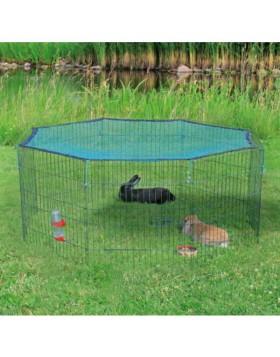 Recinto da esterno con rete di protezione in metallo per animali  60×57cm TRIXIE
