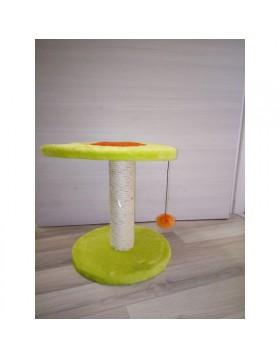 Tiragraffi con moquette resistente per gatti con pallina 31x31x34cm LEOPET