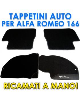 SET 4PZ TAPPETI TAPPETINI TAPPETINO PER AUTO MOQUETTE ALFA ROMEO 166 SU MISURA