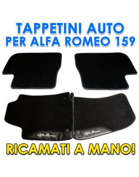 SET 4PZ TAPPETI TAPPETINI TAPPETINO PER AUTO MOQUETTE ALFA ROMEO 159 SU MISURA