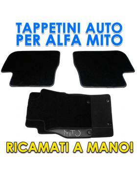 SET 4PZ TAPPETI TAPPETINI TAPPETINO PER AUTO MOQUETTE ALFA ROMEO MITO SU MISURA