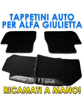4PZ TAPPETI TAPPETINI TAPPETINO PER AUTO MOQUETTE ALFA ROMEO GIULIETTA SU MISURA