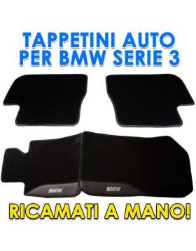4PZ SER TAPPETI TAPPETINI TAPPETINO PER AUTO MOQUETTE BMW SERIE 3 E46 SU MISURA