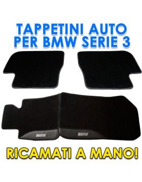 4PZ TAPPETI TAPPETINI TAPPETINO PER AUTO MOQUETTE BMW SERIE 3 DAL 2009 SU MISURA