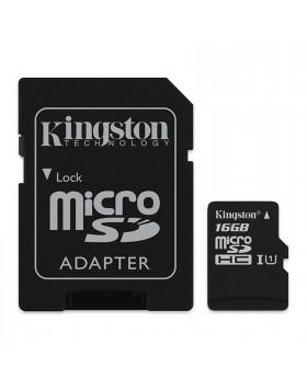Scheda di Memoria SD Micro Memory Card Classe 4 16 GIGA GB + Adattatore KINGSTON