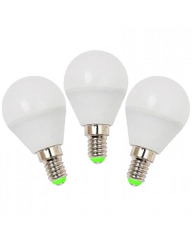 3 PZ LAMPADE LAMPADA LAMPADINE A LED LUCE FREDDA ATTACCO E14 5 W MINISFERA LIFE