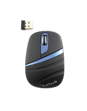 Mini Mouse USB Ottico Wireless Senza Fili Pc Portatile Vultech Blu NERO MC-01W