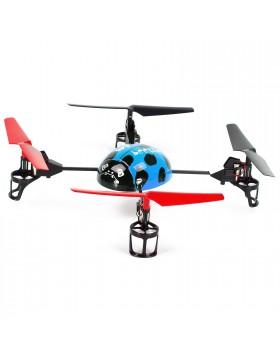 DRONE COCCINELLA MINI ELICOTTERO QUADRICOTTERO ELETTRICO RADIOCOMANDATO RC R/C