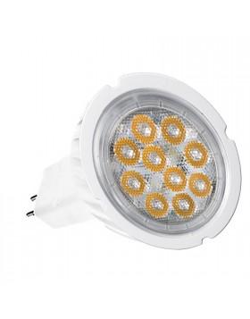 LAMPADINA LAMPADA FARO FARETTO A 10 LED SPOT GU 5.3 6W MR16 LUCE FREDDA SMD NEW
