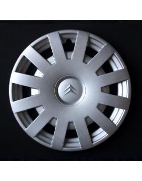 Un copriruota Copricerchi Coppe Coppa 15 pollici x auto Citroen C3 Logo cromato