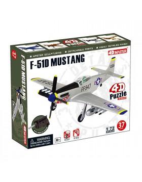 MODELLINO MODELLO AEREO F-51D MUSTANG PUZZLE 3D SCALA 1:72 37 PEZZI 4D MASTER
