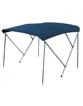 Capottina Tendalino Parasole Blu 3 Archi in Alluminio Barca Gommone 170 180 cm