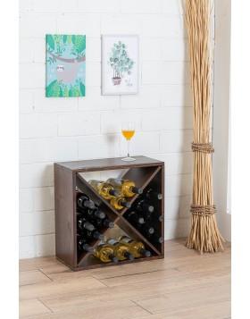 Cantinetta Portabottiglie in Legno 48x23x48 cm Vino Noce