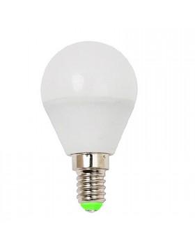 LAMPADA LAMPADINA A LED ATTACCO E14 5 WATT MINISFERA LUCE CALDA LIFE 400 LUMEN