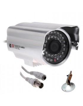 TELECAMERA VIDEOSORVEGLIANZA INFRAROSSI NOTTURNA 48 LED CCD COLORI ESTERNO 6mm