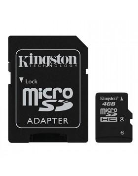 Scheda di Memoria SD Micro Memory Card Classe 4 GIGA GB con Adattatore KINGSTON