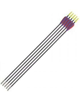 5 Pz Frecce Freccia per Arco Tiro A Bersaglio Archi 28,5 Pollici Punta