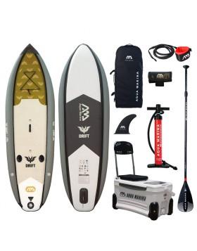Sup Board Drift Tavola per Gonfiabile per Pesca Pescare con Frigo e Porta Canna