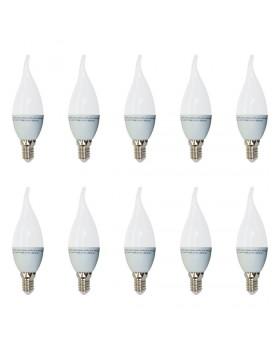 10 Lampadine Led Fiamma 4 W Luce Bianca Calda 2700 K 320 Lumen Illuminazione
