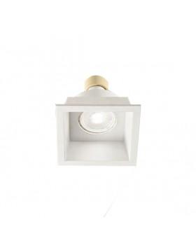 Faro Faretto Led Simplie Quadrato in Alluminio Bianco ad Incasso Attacco Gu10