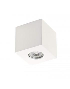 Faretto ad Incasso da Interni Bianco in Gesso Verniciabile Gu10 Moderno Quadrato