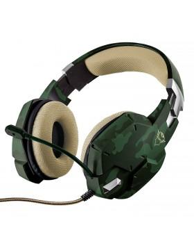 Cuffie Cuffia da Gioco Gaming Trust Verde Mimetico GXT 322C Alta Qualità Cavo 2m