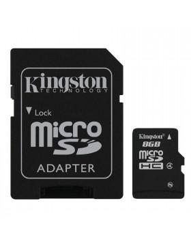 Scheda di Memoria SD Memory Card Classe 8 GIGA GB Micro KINGSTON per Smartphone
