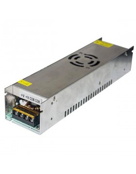 Alimentatore Stabilizzato Slim 12V 30A 360W Switch per Striscia Led